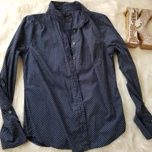 J.CREW Navy Blue Longsleeves Buttondown shirts 10